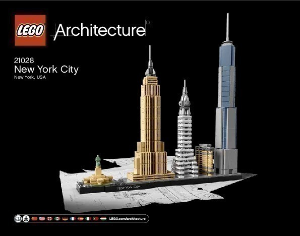 Lego architecture new york city 21028 for Lego architecture new york